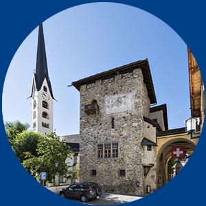 Haltestelle-Crusch-Alva-Kirche